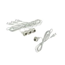 BigDean 4x Netzkabel mit Schalter E14 Fassung Lampenkabel Lampen-Verbindungskabel, (200 cm)