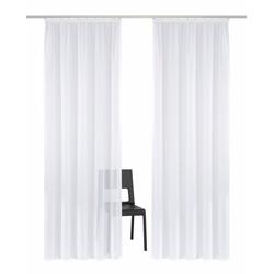 Gardine Volano, my home, Kräuselband (2 Stück) weiß 140 cm x 225 cm