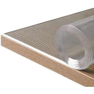 Beautex Tischdecke Glasklar Folie 2 mm + abgeschrägte Kante, transparente Tischdecke Tischschutz, Made in Germany, Größe wählbar (1-tlg) Rund - 90 cm x 90 cm