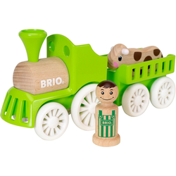 BRIO® Spielzeug-Eisenbahn My Home Town Lok mit Kuh-Anhänger, aus Holz