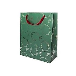 Geschenktüte, Kränze, Grün, FSC Mix