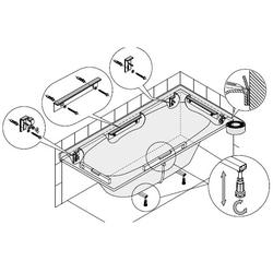 Hoesch Montage-Set für Badewannen