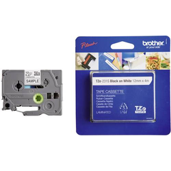 BROTHER BAND TZE-231S 12MM WEISS/SCHW