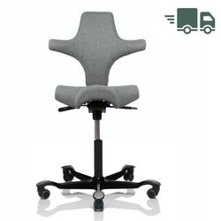 HAG CAPISCO 8106 Bürostuhl mit Sattelsitz Stoff Remix hellgrau