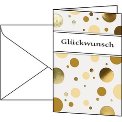 10 SIGEL Glückwunschkarten Golden Bubble DIN A6