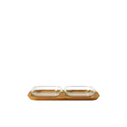 LEONARDO Servier-Set Servierset 3-teilig GUSTO, Glas, (3-tlg)