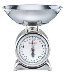 SOEHNLE Silvia Küchenwaage, Lebensmittelwaage mit großer und gut lesbarer Vollsichtskala, Maße (T x B x H): 25 x 25 x 27 cm