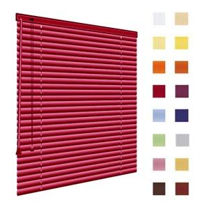 Alu-Jalousien, Jalousien, Horizontaljalousien, Farbe weinrot, auf Mass gefertigt oder in Standardgroessen, weitere 100 Farben verfuegbar