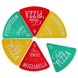 Pizzateller für 6 Pizzastücke - Melmain Teller - Pizzabrett bis zu 40cm Pizza