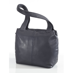 Avena Damen Leder-Shopper Easy Going Blau 1