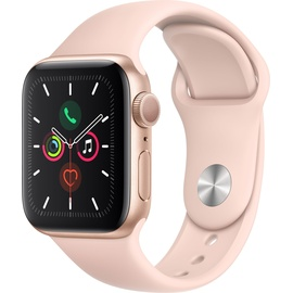Apple Watch Series 5 GPS 40 mm Aluminiumgehäuse gold, Sportarmband sandrosa