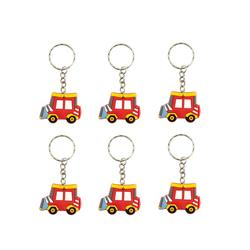 6x Schlüsselanhänger Auto Anhänger Kinder Geburtstag Mitgebsel - rot