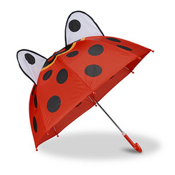 relaxdays Kinder-Regenschirm Marienkäfer rot