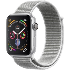 Apple Watch Series 4 (GPS) 40mm Aluminiumgehäuse silber mit Loop Sportarmband muschel