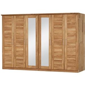 Kleiderschrank aus Wildeiche Massivholz Spiegel
