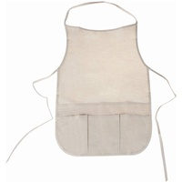 Stylex 46718 Malerkittel Kinder, Beige Baumwolle, Universalgröße