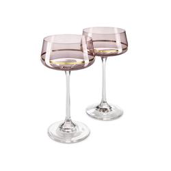 Champagner- und Cocktailgläser