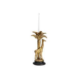 KARE Kerzenständer Kerzenständer Giraffe Palm Tree Gold 35cm