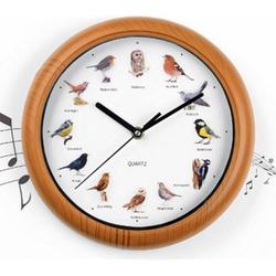 EASYmaxx Wanduhr mit Vogelstimmen