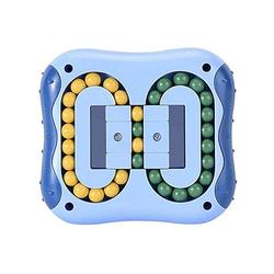 kueatily Zerrspielzeug Magic Beans, Intelligence Fingertip Rubik's Cube Lernspielzeug, Magic Cube Little Magic Beans Spielzeug, Denksport-Puzzle-Set, Stressabbau-Spielzeug, für Kinder und Erwachsene, Kunststoff-Schloss-Spielzeug blau