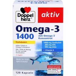 DOPPELHERZ Omega-3 1.400 Kapseln 120 St.