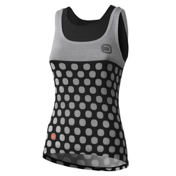 Dotout Dots - Fahrrad-Top- Damen Grey/Black S