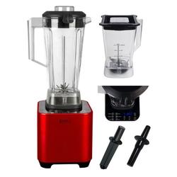 KeMar Kitchenware Standmixer KSB-200, 1500 W, 1500 Watt, Hochleistungsmixer, 2 Behälter inklusive, 6 automatische Programme, Touch Display, Pulse Funktion rot
