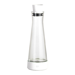 Emsa Karaffe Flow Slim Friends Glas / Kunststoff Weiß 1L 515475