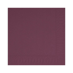 DUNI Servietten, aus Zellstoff, Lösungsmittelfreies Mundtuch, Farbe: plum, 1 Karton = 4 x 250 Stück = 1000 Servietten, Farbe: plum