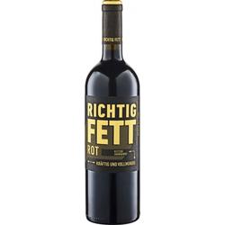 RICHTIG FETT Rotwein halbtrocken 2019