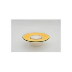 Zeller Keramik Teelichthalter Teelichthalter mit weißem Teelicht Kornfeld