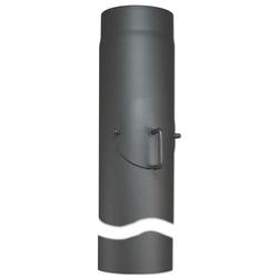 Abgasrohr für Kaminofen Länge 1000 mm Ø 150 mm - mit Tür und Drosselklappe - 80345020