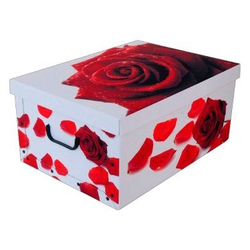 KREHER Aufbewahrungsbox Rose Rot weiß