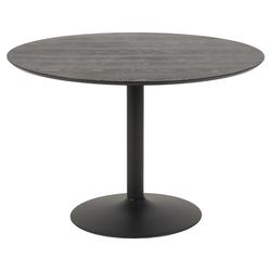 Stół do jadalni okrągły Balsamita średnica 110 cm jesion na czarnej nodze