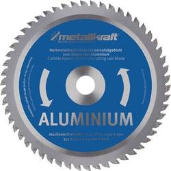 Metallkreissägeblatt Alu.D.355mm B.2,4mm HM Bohrungs-D.25,4mm Z.80 METALLKRAFT