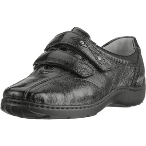 Waldläufer Damen Velcro Schuhe , Schwarz (143 001) , 37 EU (4.5 UK)