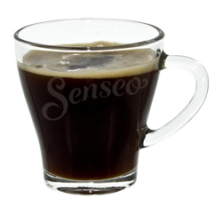 Senseo Tasse Kaffee Glas, Becher mit Henkel, 120 ml