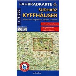 Fahrradkarte Südharz  Kyffhäuser; . - Buch