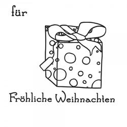 Weihnachten Holzstempel - Geschenk (50x50 mm)