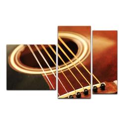 Bilderdepot24 Leinwandbild, Leinwandbild - Gitarre 130 cm x 80 cm