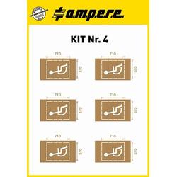 Ampere Schablonen KIT Nr. 4 1 Set a 6 Schablonen 630241001