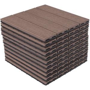EUGAD Terrassenfliesen, Balkonfliesen, 30x30 cm klicksystem, 11 Stücke für 1m² Braun