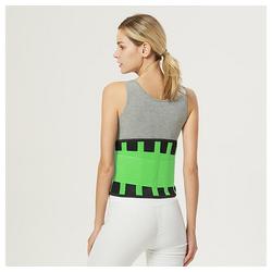 kueatily Bauchweggürtel Bauchweggurtel Sportgürtel, farbiger Taillenschutz, Bandscheibenfixierung Kraftvolles Dehnen und Verriegeln der Taille, doppeltes Gummibanddesign grün S
