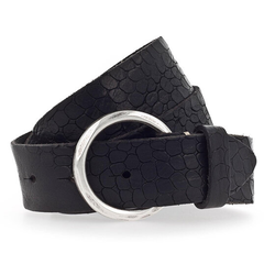 b.belt Gürtel Leder schwarz 90 cm