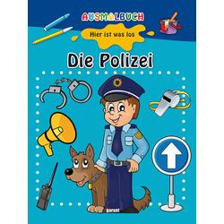 Ausmalbuch - Die Polizei: Buch von
