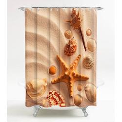 SANILO Duschvorhang Sanibel, 180 x 200 cm braun