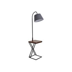 HOMCOM Stehlampe Stehlampe mit Tisch