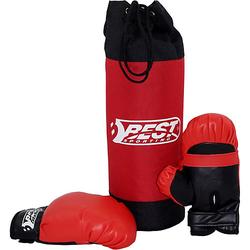 Box-Set Kinder, Boxsack & Boxhandschuhe schwarz/rot  Kinder