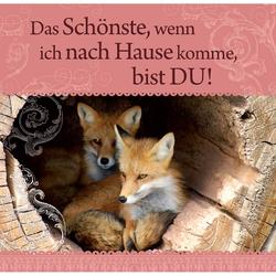 """H&H Romantisches Geschirrtuch """"Das Schönste, wenn ich..."""""""
