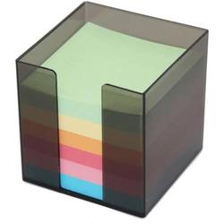 Zettelbox 9,5x9,5x9,5mm 700 Blatt farbiges Papier rauch